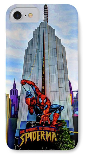 IPhone Case featuring the photograph Spiderman by Tom Prendergast