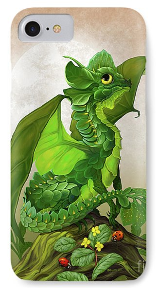 Spinach Dragon IPhone Case by Stanley Morrison