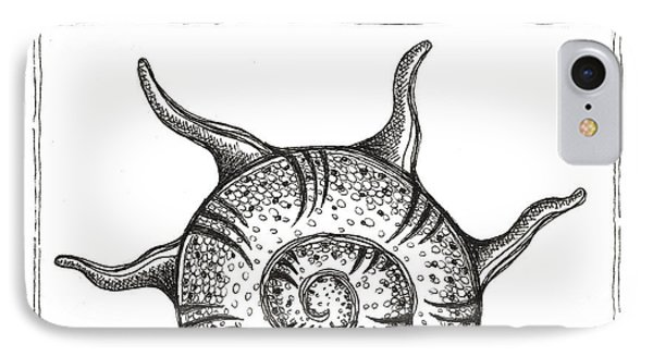 Spiney Nautilus IPhone Case by Stephanie Troxell