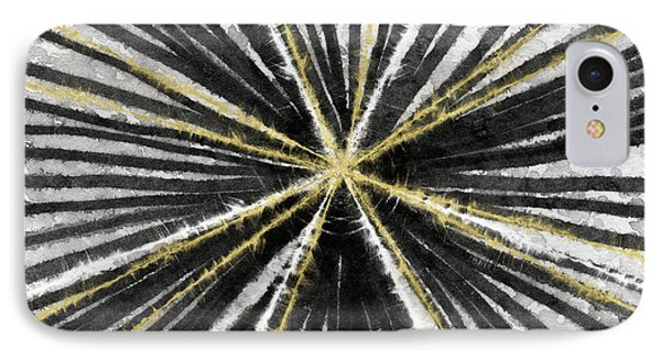 Spinning Black And Gold- Art By Linda Woods IPhone Case by Linda Woods