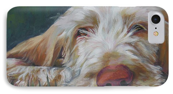 Spinone Italiano Orange IPhone Case by Lee Ann Shepard