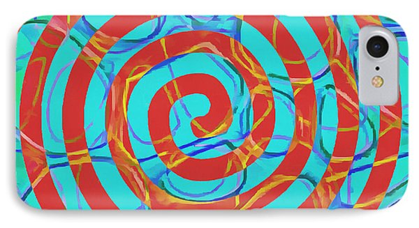 Spiral Abstract 1 IPhone Case by Edward Fielding