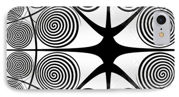 Spiral Abstract 7 Colour Choice IPhone Case by Barbara Moignard