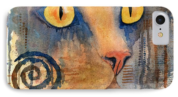 Spiral Cat Series - Returned IPhone Case by Moon Stumpp