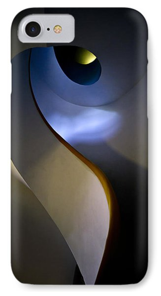 Spiral Concrete Modern Staircase IPhone Case by Jaroslaw Blaminsky