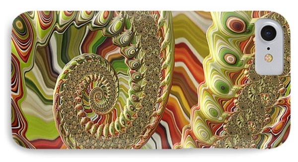 IPhone Case featuring the photograph Spiral Fractal by Bonnie Bruno