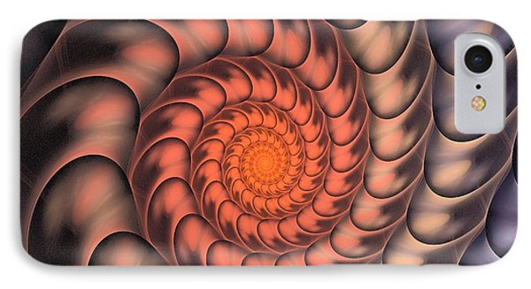 IPhone Case featuring the digital art Spiral Shell by Anastasiya Malakhova