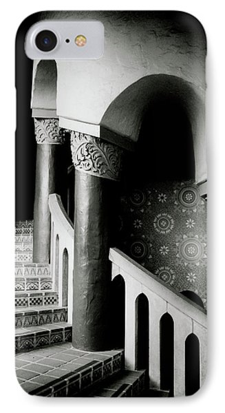 Spiral Stairs- Black And White Photo By Linda Woods IPhone Case by Linda Woods