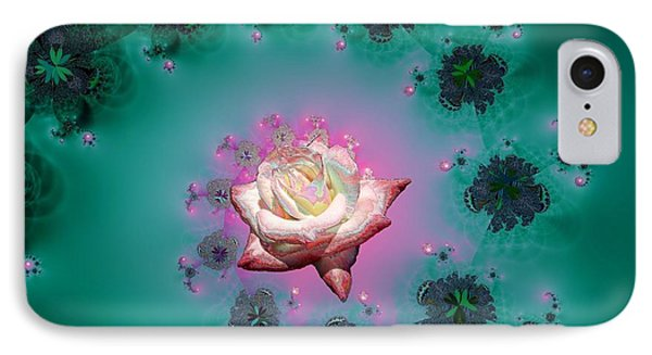 Spiral To A Rose Fractal 140 Phone Case by Rose Santuci-Sofranko