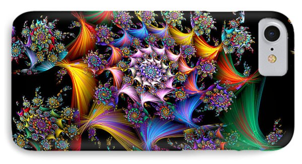 Spirals And More Spirals IPhone Case by Peggi Wolfe
