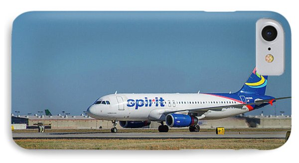 IPhone Case featuring the photograph Spirit Airlines Airbus A320 N608nk Airplane Art by Reid Callaway