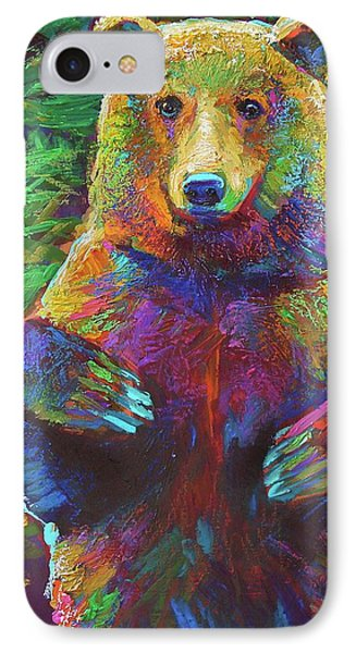 IPhone Case featuring the painting Spirit Bear by Robert Phelps