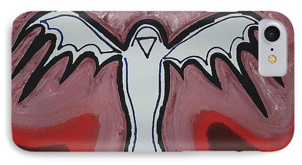 Spirit Crow Original Painting IPhone Case by Sol Luckman