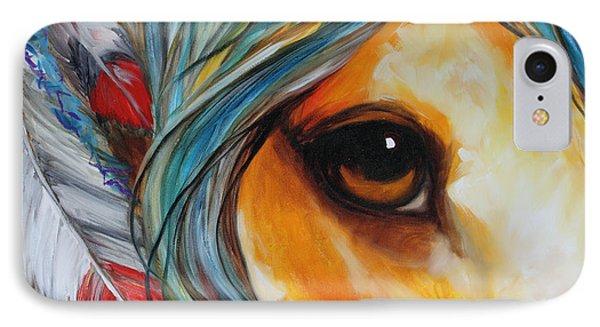 Spirit Eye Indian War Horse IPhone Case by Marcia Baldwin
