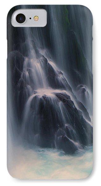 Spirit Falls Detail. IPhone Case by Ulrich Burkhalter