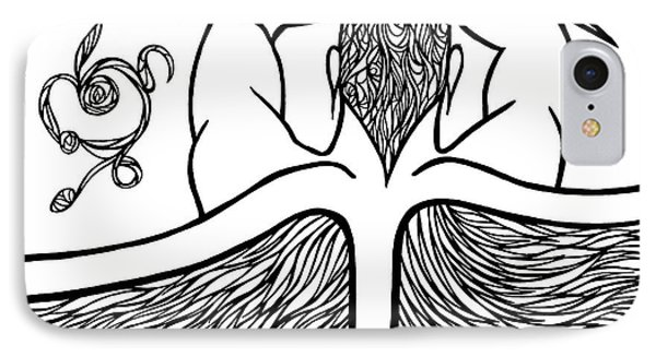 IPhone Case featuring the drawing Spirit by Jamie Lynn