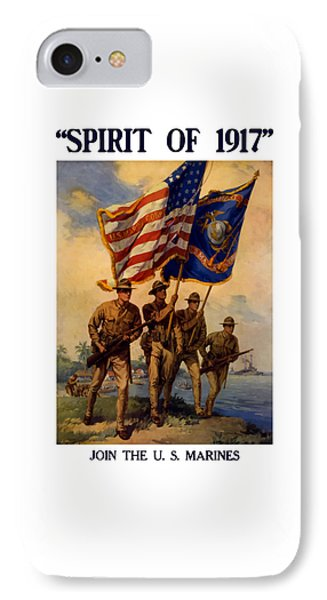 Spirit Of 1917 - Join The Us Marines  Phone Case by War Is Hell Store