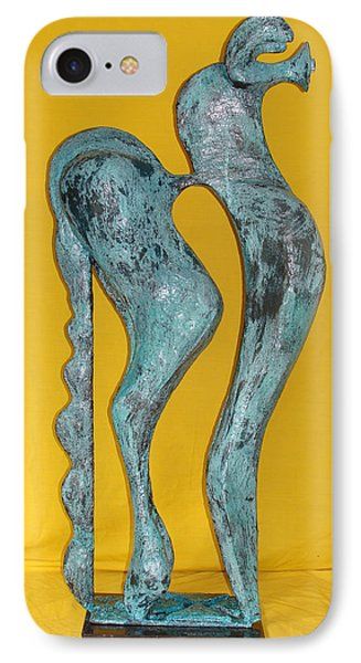 IPhone Case featuring the sculpture Spirit Of A Young Horse by Al Goldfarb