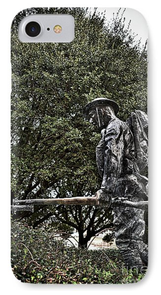 Spirit Of American Doughboy IPhone Case by Skip Willits