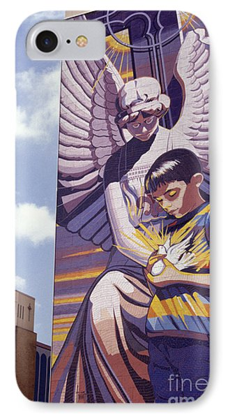 Spirit Of Healing Mural San Antonio Texas IPhone Case by John  Mitchell