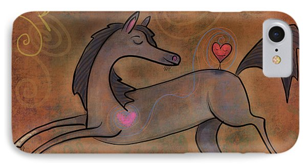 IPhone Case featuring the digital art Spirit Of Horse by Marti McGinnis