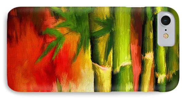 Spirit Of Summer- Bamboo Artwork IPhone Case by Lourry Legarde