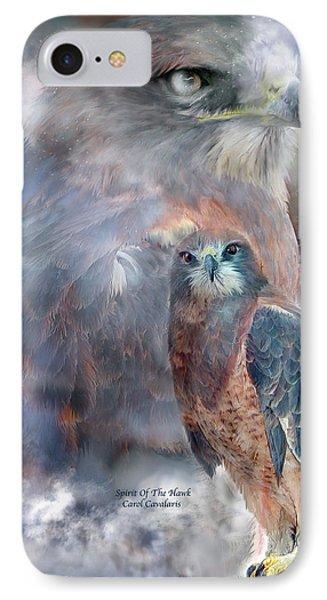 Spirit Of The Hawk IPhone 7 Case by Carol Cavalaris