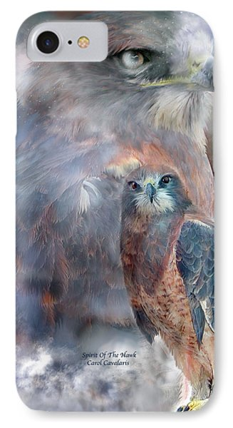 Spirit Of The Hawk IPhone 7 Case by Carol Cavalaris