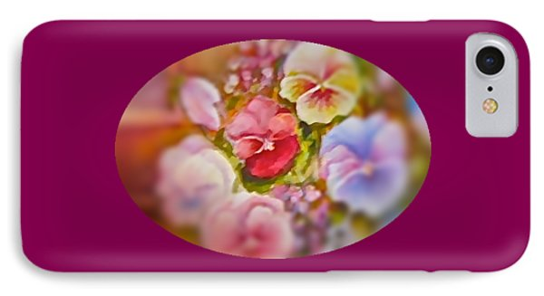 IPhone Case featuring the painting Spirit Petals by Patricia Schneider Mitchell