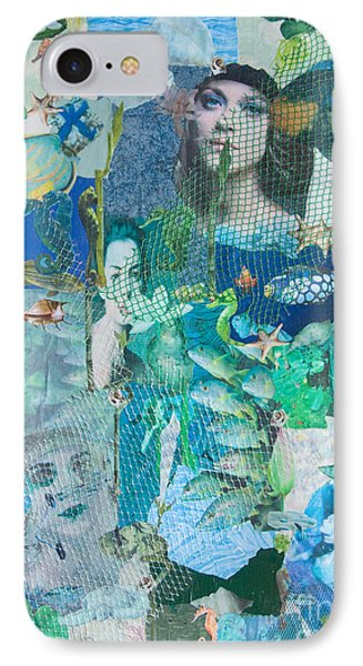 IPhone Case featuring the mixed media Spirits Of The Sea by Sandy McIntire