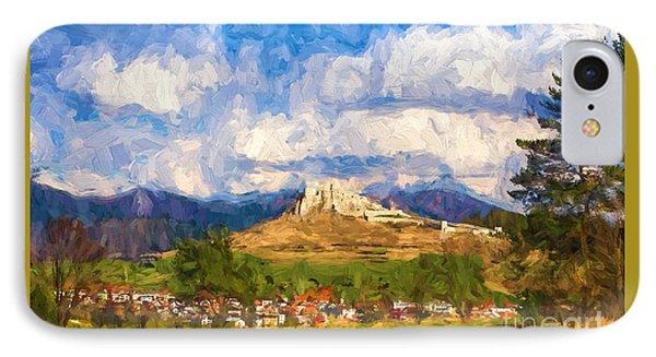 Castle Above The Village IPhone Case by Les Palenik