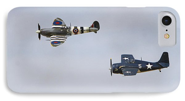 Spitfire And Wildcat IPhone Case by Shoal Hollingsworth