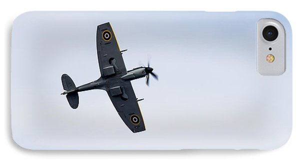 IPhone Case featuring the photograph Spitfire From Below Sunderland Air Show 2014 by Scott Lyons