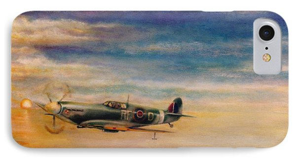 Spitfire In Flight Phone Case by Liam O Conaire