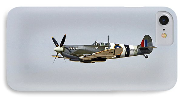 Spitfire In Flight IPhone Case by Shoal Hollingsworth