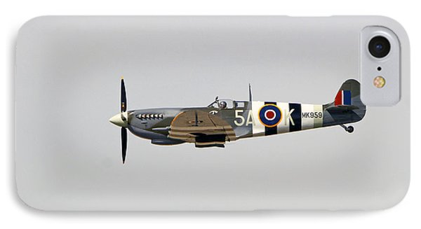 Spitfire Mk959 In Flight IPhone Case by Shoal Hollingsworth