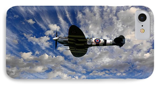 Spitfire Skies IPhone Case by Nichola Denny