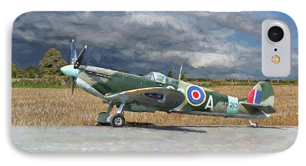 Spitfire Under Storm Clouds IPhone Case by Paul Gulliver