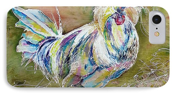 IPhone Case featuring the painting Splash White Polish Chicken by Christy  Freeman