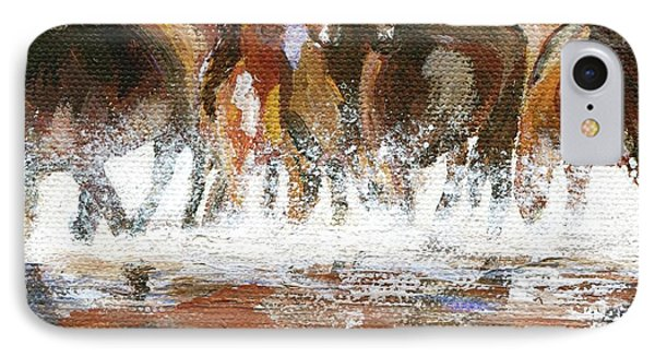 IPhone Case featuring the painting Splashing Around by Jamie Frier