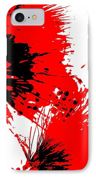 Splatter Black White And Red Series IPhone Case by Betty Northcutt