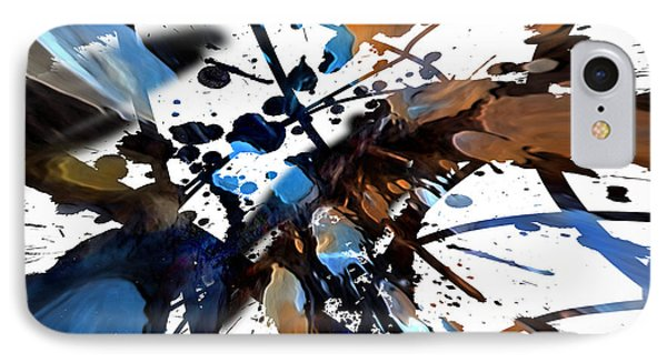 IPhone Case featuring the digital art Splatter Gig by Margie Chapman