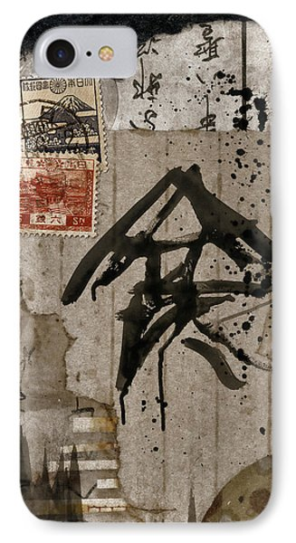 Splattered Ink Postcard IPhone Case by Carol Leigh
