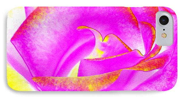 IPhone Case featuring the mixed media Splendid Rose Abstract by Will Borden