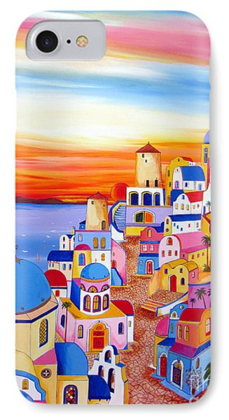 Splendid Santorini Sunset My Way IPhone Case