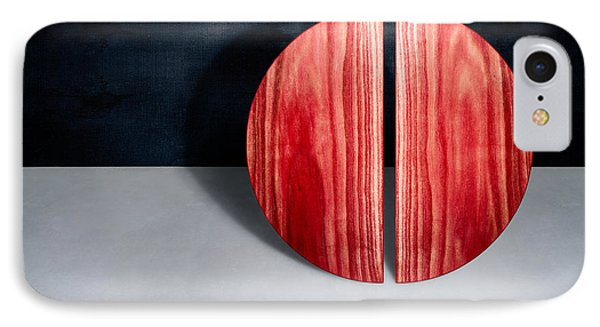 Split Circle Red IPhone Case by YoPedro