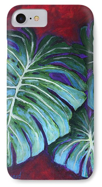 Split Leaf Philodendron IPhone Case by Phyllis Howard