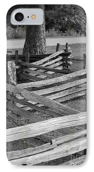 Split Rail Fence IPhone Case by Eric Liller