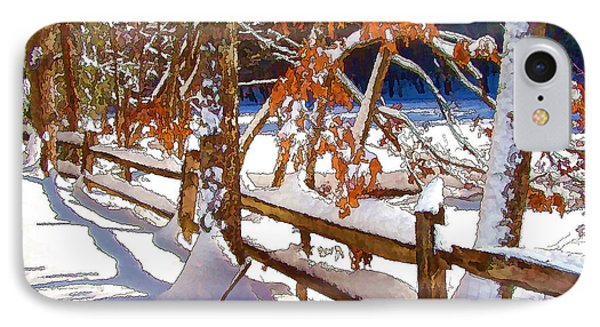 Split Rails IPhone Case by Betsy Zimmerli