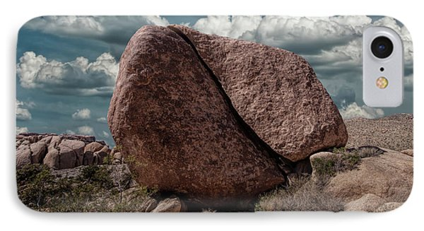 IPhone Case featuring the photograph Split Rock In Joshua Tree National Park by Randall Nyhof